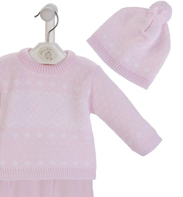 Dandelion Pink Fairisle 3 Piece Set