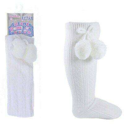 White Unisex Pom Pom Socks